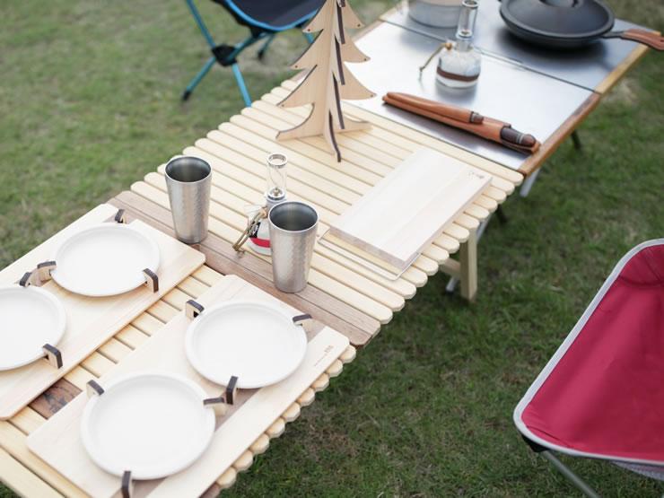 ウッドテーブル キャンプ テーブル 木製 KUROSON 196 ひのき ユニフレーム