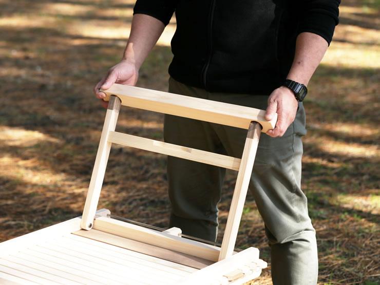 テーブル 木製 ウッドテーブル 高さ調整 アジャスター KUROSON