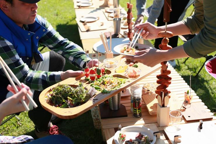 竹 バンブー 食器 テーブルウェア パーティー ビュッフェ アウトドア キャンプ