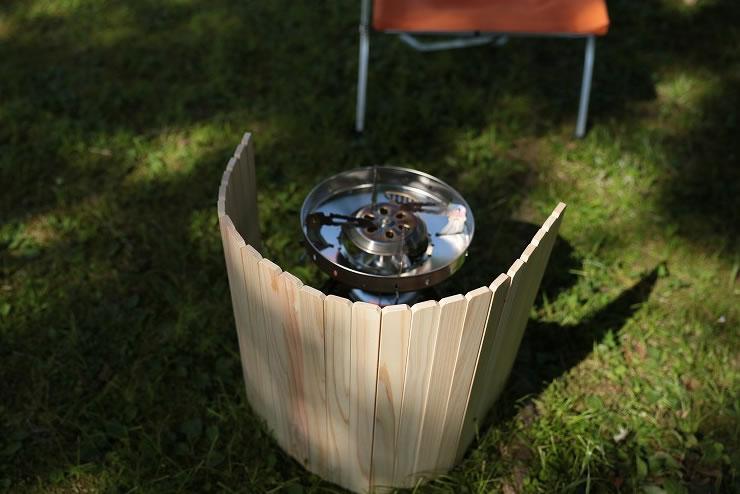 風防 ウィンドスクリーン 木製 ストーブ バーナー シングルバーナー