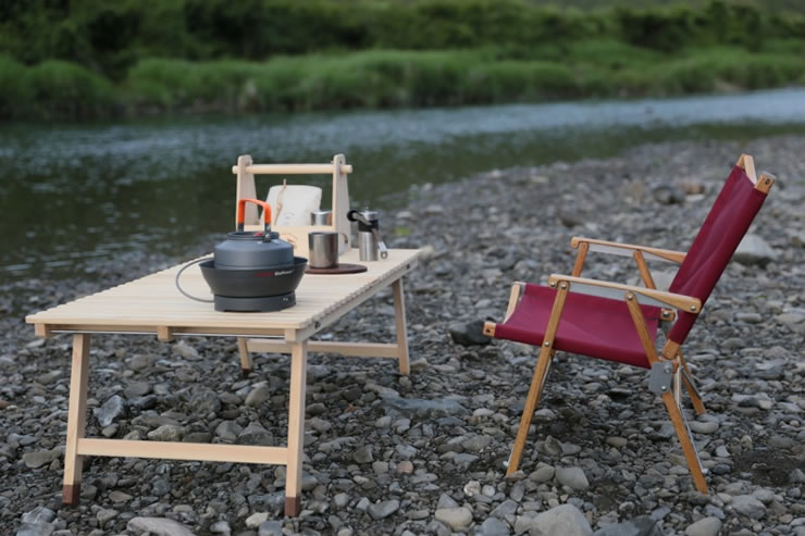 ウッドテーブル キャンプ テーブル 木製