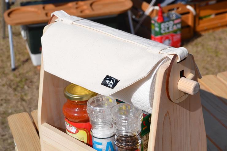 キャンプ キッチンペーパー カバー ホルダー 調味料 スパイス ラック ボックス