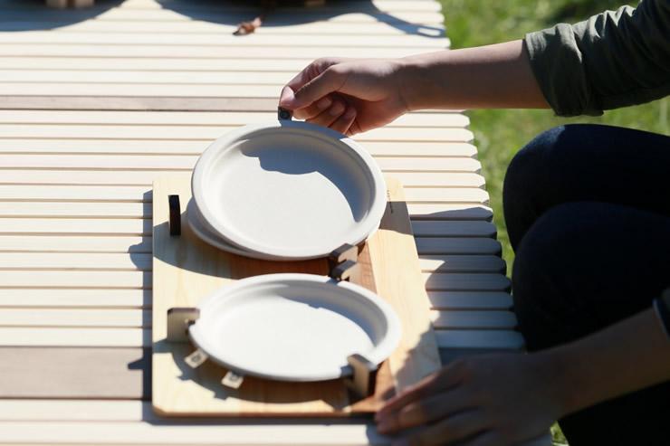 紙皿 ペーパートレー 飛ばない 固定 キャンプ アウトドア グルキャン ファミキャン